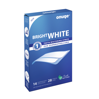 onuge bright white-strips Verpackung